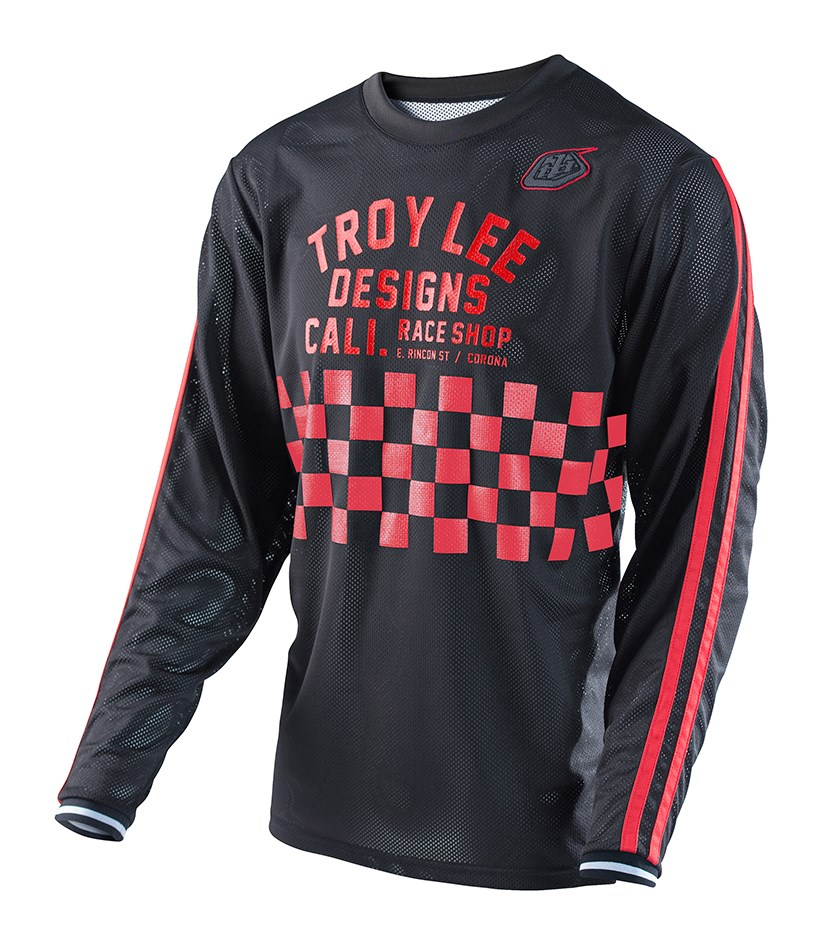 Troy Lee Super Retro Jersey - Black Red £39.00 e2a9ebe50